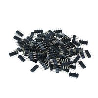 Wholesale rgb led strip male connector - 1000pcs lot 4pin RGB connector, 4 pin needle, male type double 4pin, small part for LED RGB 3528 and 5050 strip free shipping