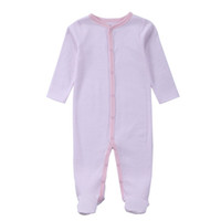 Wholesale Top Baby Model - 2016 Top Quality Infant Bodysuit One Pieces Baby Romper Newborn Striped Model Boys Girls Long Sleeve Brand Name Bodysuits 0-12M
