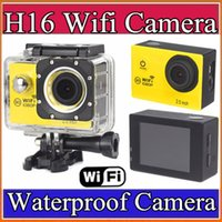 Wholesale Sports Video Cam Recorder - Newest Action Camera WiFi 1080P Full HD 2.0 LCD HD 30m Waterproof DV video Sport extreme go pro mini cam recorder sport camera M-XJ