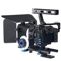 Wholesale Rig Follow Focus Kit - Professional Handle DSLR Rig Stabilizer Video Camera Cage Follow Focus Matte Box Kit For Sony A7S A7 A7R A7RII A7SII Lumix GH4