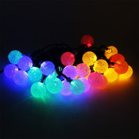 Outdoor Solar String Lights 20ft 30LED Fairy Bubble Crystal Ball Licht dekorative Beleuchtung für Indoor Garden Patio Rasen