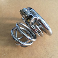Wholesale Steel Cock Strap - Sex Toys Male Chastity Cock Cage Anti-off Device Spike Ring Strap On Penis Stainless Steel Restraints