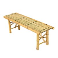 Wholesale Bamboo Bench Tiki Tropical Coffee Table Bench Patio Room Bar Outdoor New