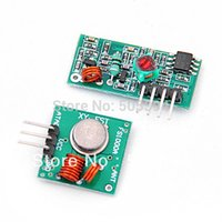 Wholesale 433mhz Transmitter Receiver Module - 1Lot= 1 pair (2pcs) RF wireless receiver module & transmitter module Ordinary super- regeneration 315 433MHZ