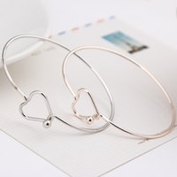 Wholesale Girls Metal Bangles - Fashion design very simple about pure copper casting love knot open metal bangle bracelet love bracelet for girl