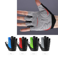 Wholesale Women S Mountain Bike Gloves - 5 Colors Cycling Bike Half Finger Spider Gloves Shockproof Breathable MTB Mountain Bicycle Gloves Men Women Sports Cycling Clothings