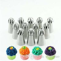 Wholesale Big Baking Cups - Russia Big Size Sphere Nozzles 3*6cm Baking Tool Stainless Steel Cake Decorating Cup Cake Bakeware Nozzles Icing Nib Wholesale