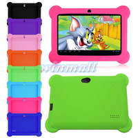 "Wholesale China Tablet For Kids - Cute Kids Shockproof Soft Silicone Rubber Gel Case Cover For Q88 7"" Inch Android Tablet PC"