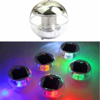 Wholesale Solar Floating Balls - LJP523 Free shipping New Waterproof Solar Floating Pond Rotat 7 Color Changing Lamp LED Light Lamp Ball