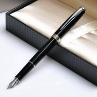 Wholesale Gift Boxes Pens - Wholesale-Parker Fountain pen with original box fashion gift fountain pen Executive good quality pen black with silver clip