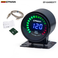 "Wholesale Gauges Exhaust - TANSKY -EPMAN New Epman Racing 2"" 52mm Smoked Digital Color Analog LED Exhaust Gas Temp Temperature EXT Gauge With Sensor EP-GA50EXTT"