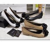 Wholesale Ladies White Dress Flowers - free shipping A1305-1 size 35~40women flats brown  black  white sheepskin upper and inner office lady shoes round toe and slip-on