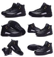 zapatos de baloncesto de los hombres de salida al por mayor-Envío gratis A12 zapatos de baloncesto deportes de cuero genuinos a prueba de agua Venta caliente de calidad superior enchufe de fábrica hombres 12 botas de baloncesto maestro