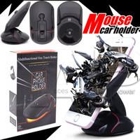 evrensel araba arabası beşiği toptan satış-Iphone7 Artı Telefon Sahipleri için Mouse Araç Montaj Evrensel 360 Cam Montaj Dirseği Tek Dokunmatik Fare Vantuz Cradle Aksesuarları Standı
