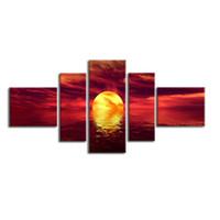 hermosas pinturas paisaje lienzo al por mayor-Hermoso paisaje Pinturas al óleo Impresión en lienzo UV Agua y a prueba de humedad Pared moderna Decoración del hogar Lienzos
