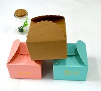 Wholesale Wholesale Pink Cupcake Boxes - DIY cupcake box small candy boxes paper gift box free shippng wedding favor box Shipped flat