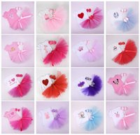 Wholesale Cute Rompers For Infant Girls - Summer Cute Girls Baby Rompers Clothing Sets Short Sleeve Onesies tutu Skirts Headbands Outfits Jumpers Toddler Infant Clothes for Girls