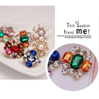 Wholesale Christmas Pins Bulk - 30pcs Mixed Bulk Pins Wedding Bridal Decoration Silver Colour Flower Crystals Brooches Brooch Bouquet Multi-Colour Rhinestones Christmas Gif