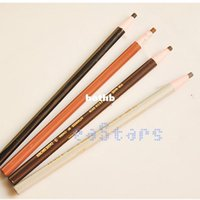 Wholesale full safe - Wholesale New 3 Colors Soft Cosmetic Makeup Safe on Skin Eyebrow Pencil with Tearing Thread Free Shipping