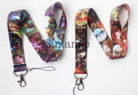 Wholesale Lol Key Chains - New arrive - 100pcs LOL League of Legends neck Lanyard  MP3 4 cell phone  key chains  Neck Strap Lanyard Free shipping