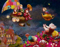 Victor Nizovtsev Art HD Prints pintura a óleo Decoração do quarto infantil Wall Picture best presente de natal Fairy tale world Home Decor NVN24