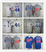 Wholesale Dress Rips - 2015 New 2015 Men Chicago Cubs Jersey 44 Anthony Rizzo Authentic Throwback Embroidery Stitched Baseball Shirt Free Shipping Sports Dress