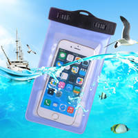 Wholesale Straps For Bag Wholesale - For iphone 6 S7 Universal Waterproof Bag Pouch Case With Armband Strap for phone plus 6Plus Galaxy Note4 5 6S S6 Edge