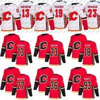 Wholesale Hockey 13 - 2017-18 Calgary Flames Jersey S to 5XL 13 Johnny Gaudreau 19 Matthew Tkachuk 20 Curtis Lazar 25 Freddie Hamilton 93 Sam Bennett Jerseys