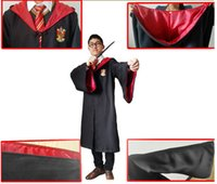 Wholesale Unisex Chiffon Robes - Halloween Costumes 4 Color Harry Potter Costume Adult and Kids Cloak Robe Cape Theme Costume
