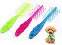 Wholesale Wholesale Sided Dog Brushes - fur wizard pet supplies Double-sided candy color comb For Gentle And Efficient Massage Dog footprint Comb Pet Hair Cleaning Beauty Tools