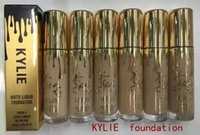 Wholesale Professional Liquid Foundation - 2016 New Kylie Makeup Face Powder Foundation professional matte luiqid foundation 6 color DHL free shipping