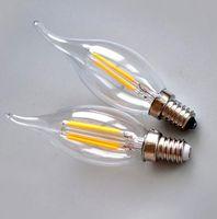 Wholesale E26 Led 6w - led lights Retail chandelier bulbs E14 E12 E27 E26 Led Candle bulb led lamps led lighting 2W 4W 6W modern silver golden Lights