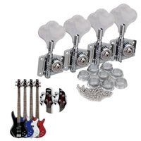 pomo bajo al por mayor-4PCS Chrome Bass Guitar Machine Head Knobs Tuners Tuning Pegs Guitar Parts