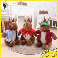Wholesale Super Cute Bunny - Free Shipping Multisize Super Cute Peter Rabbit Plush Toy Soft Bunny Doll Baby Toys Lovely Gifts for Children ST384