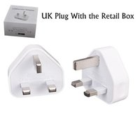 Wholesale uk pins - USB 5V 1.2A Wall Charger 3 pin UK Plug AC Power Adapter Home Charger Universal for Smartphone for tablet PC