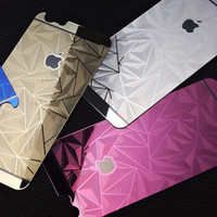 vasos templados de china al por mayor-para iPhone 6/7/8 / S Plus 3D Rhombus Electroplate Color Mirror Tempered Glass Protector de pantalla para teléfono celular Delantero Trasero Directo China OEMODM