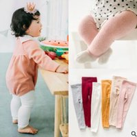 Barato Meias De Bebê Quente-Newborn Winter Thick Warm Soft Cotton Baby Girl Tights Infante Solid Coral Fleece Leg Warmers Leggings Baby Midings Qualidade superior