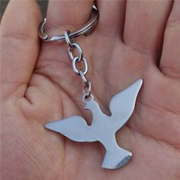 12pcs / lot New Hot Sell Moda Mulheres Animal Keyring Stainless Steel Bird Keychain Jóias para homens