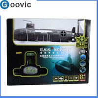 Wholesale 6 Channel RC Submarine U S S Seawolf Remote Control Navy Motorboat Diving Electric Toy