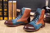Wholesale Head Men Boots - Autumn and winter fashion casual men's boots British Lun Mading boots men leather head skin boots male boots men's boots tide boot