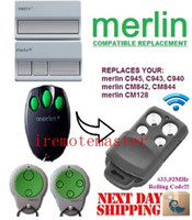 Wholesale Garage Door Remote Merlin - Top quality! Merlin C945 C943 C940 Merlin CM842 CM844 CM128 garage door replacement remote control  transmitter