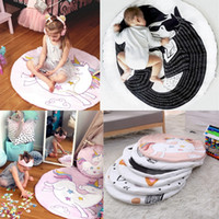 Wholesale Kids Animal Blankets - INS Baby Creeping Mats Fox Unicorn Play Game Mats Decorative Crawling Blanket Kids Room Padded Floor Carpet
