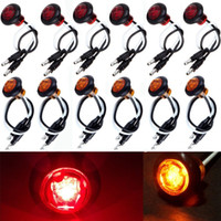 12x Ambra Red Round Bullet Clearance Side Marker Truck Trailer Mini LED Lights spedizione gratuita yy057