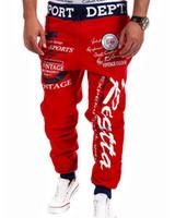 Wholesale Mens Sports Wear Wholesale - Wholesale-Casual Mens Letter Printing Baggy Harem Cool Long Loose Sweatpants Jogger Sport Wear Pants Plus Size Hot Sale
