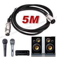 Wholesale Xlr Balanced - 4X 3 Pin 5m Balanced Microphone Cables XLR Male to Female Mic Lead