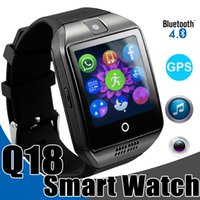 German packaging camera - Smart Watches Q18 Bluetooth Smartwatch for IOS Android Phones with SIM Card Slot GPS Connection Smart Watch with Retail Package