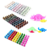 60pcs / box Hatchable Eggs Novidade Gag Brinquedos Magic Water Hatching Inflação Growing Dinosaur Eggs Funny Toy Hatchimals Surpresa Páscoa
