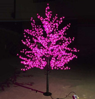 Wholesale Led Artificial Tree Wholesale - LED Artificial Cherry Blossom Tree Light Christmas Light 1152pcs LED Bulbs 2m Height 110 220VAC Rainproof Outdoor Use Free Shipping