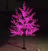 Wholesale Used White Christmas Tree - LED Artificial Cherry Blossom Tree Light Christmas Light 1152pcs LED Bulbs 2m Height 110 220VAC Rainproof Outdoor Use Free Shipping