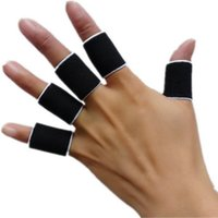 Wholesale-10PCS elastico Finger Sleeve Supporto Wrap Artrite Guardia Pallavolo nuovi sport